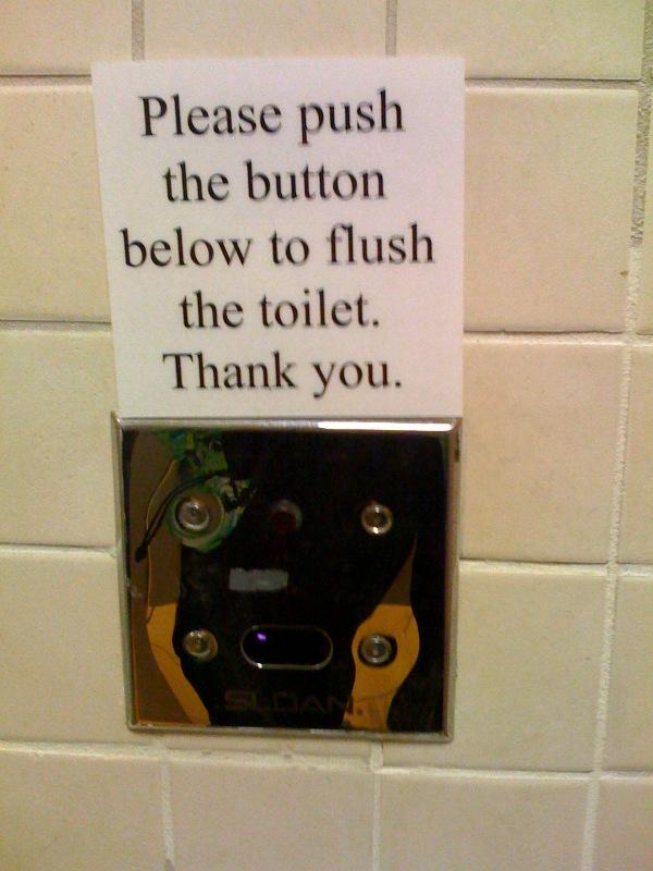 Toilet instruction